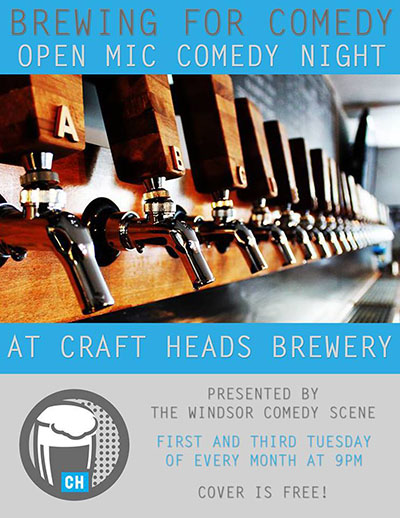 Brewing For Comedy open mic night at Craft Heads Brewing Company