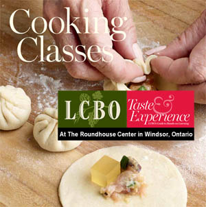 LCBO Cooking Classes at the Roundhouse Centre in Windsor, Ontario.