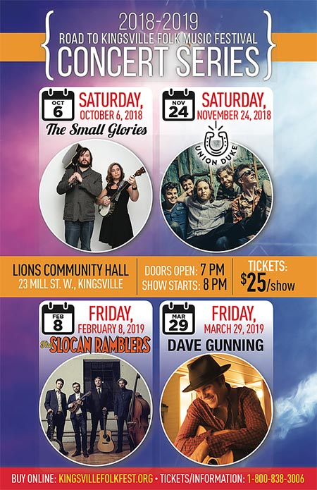 Road To Folkfest Concert Series 2018/2019 Season Poster