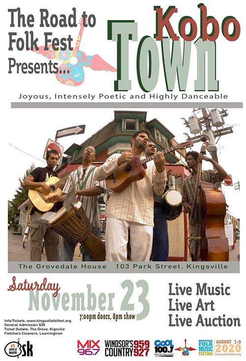 Road To Kingsville Folk Fest Kobo Town Poster