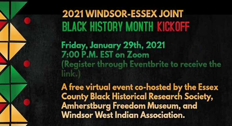 Windsor Black History Month Kickoff Poster