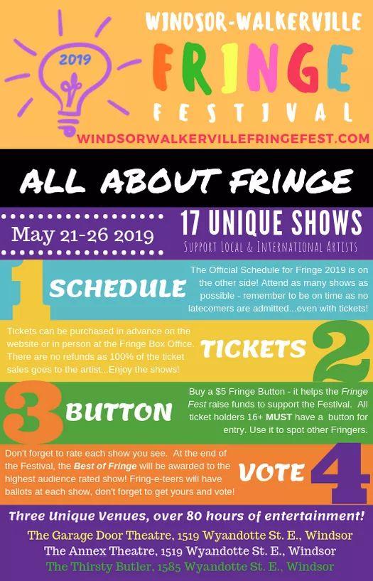 Windsor Walkerville Fringe Festival Poster