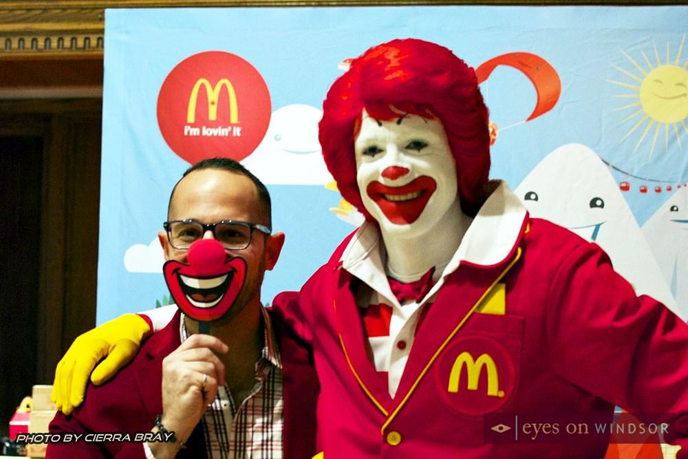 Ronald McDonald and friend.