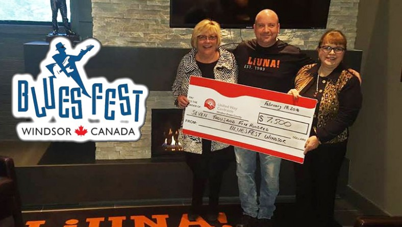 Bluesfest Windsor Presents $7,500 To United Way Centraide Windsor Essex
