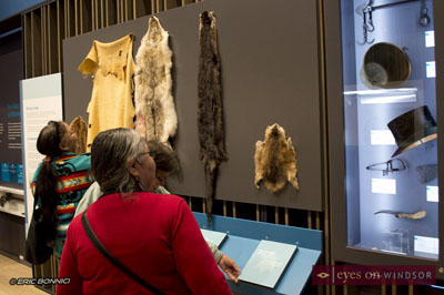 people explore displays at the Chimczuk Museum in Windsor, Ontario.