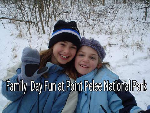 Children Having Family Day Fun at Point Pelee National Park