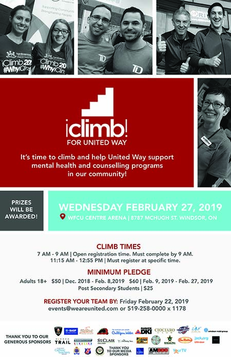 iClimb! for United Way Centraide Windsor Essex County Poster