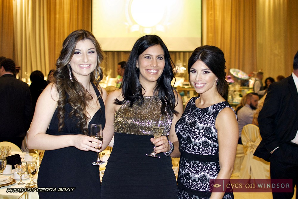Melissa Muscedere and friends at In Honour Gala.