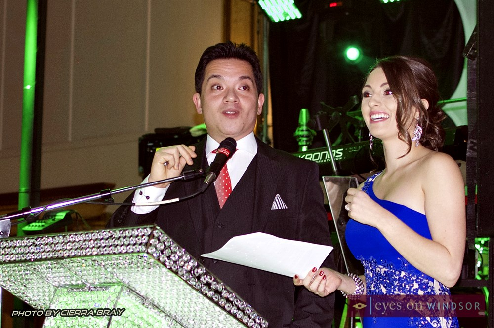 Stefanie Masotti and Arms Bumanlag of CTV Windsor / AM800 emcee In Honour Gala.