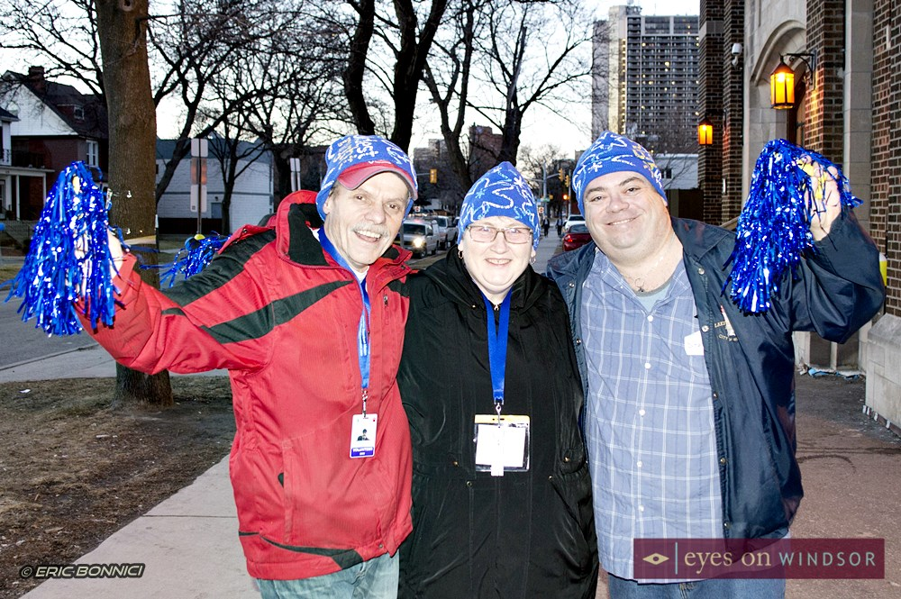Coldest Night of The Year Walk Volunteers in front of the Downtown Windsor Mission.