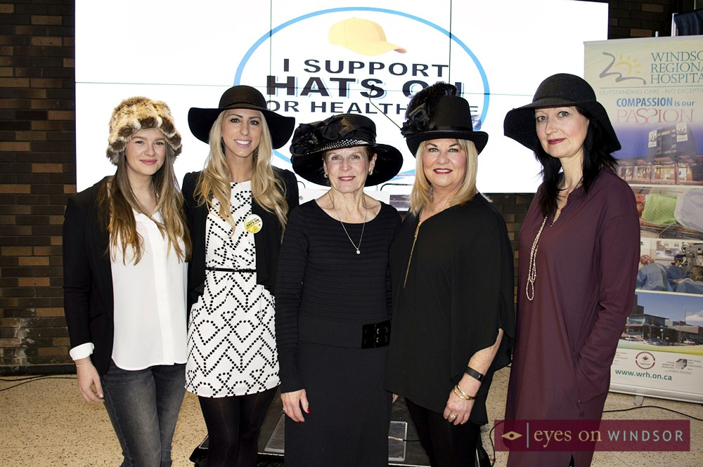 Hats On For Health Care Day 2016 Best Hat Competition Judges Elaine Chatwood, Yvonne Pilon, Anne Waters, Amanda Reid, and Elaine Snaden.