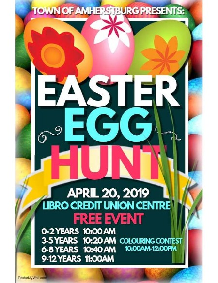 annual amherstburg easter egg hunt 2019