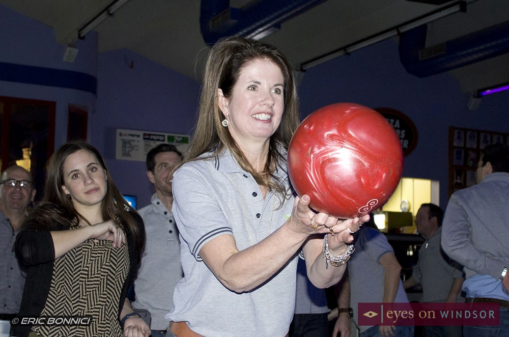 Lady bowling.
