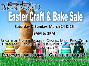 Brentwood Easter Craft and Bake Sale Poster