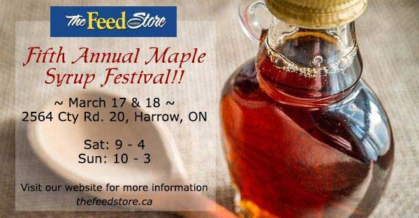 Maple Syrup Festival at The Harrow Feed Store Poster