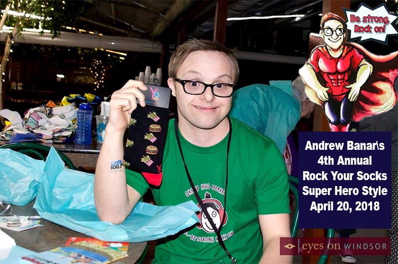 Rock Your Socks with Andrew Banar of Group Hug Apparel banner.