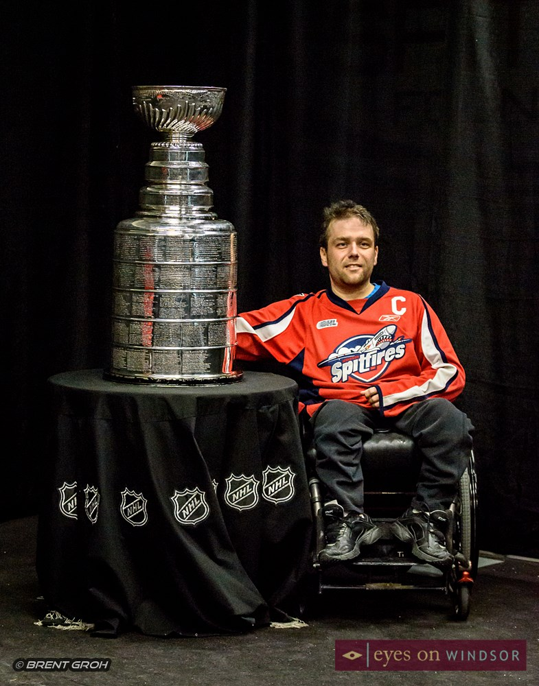 Christopher Hornby with Stanley Cup.