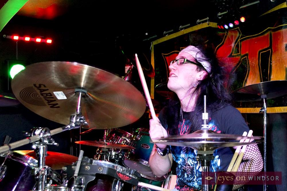 Love Razer drummer Crissy Stixx
