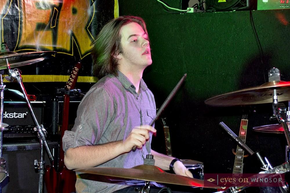 Eric Vanier drummer for Midnight Metro
