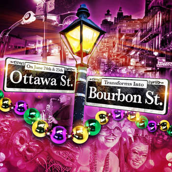Bourbon Street Experience on Ottawa Street in Windsor.