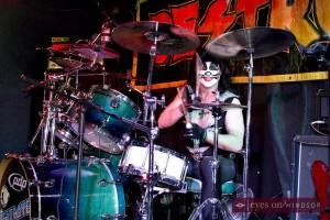 Destroyer drummer The Catman Michael Chichkan performing in Windsor.