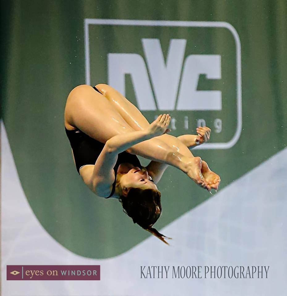 A diver competing at the FINA/NVC Diving World Series Windsor, Ontario.