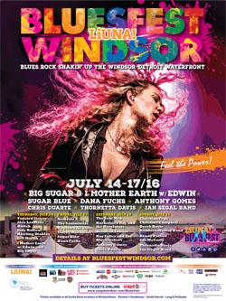 Bluesfest Windsor 2016 Poster