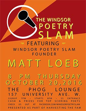 Windsor Poetry Slam featuring Marty Gervais