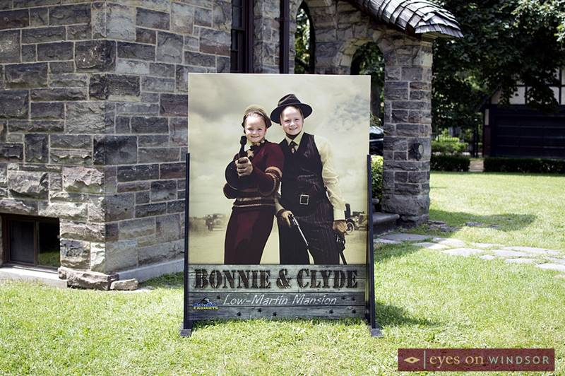 Bonnie and Clyde at the Low Martin House.