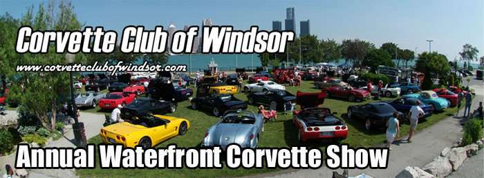 Corvette Club of Windsor Annual Waterfront Corvette Show