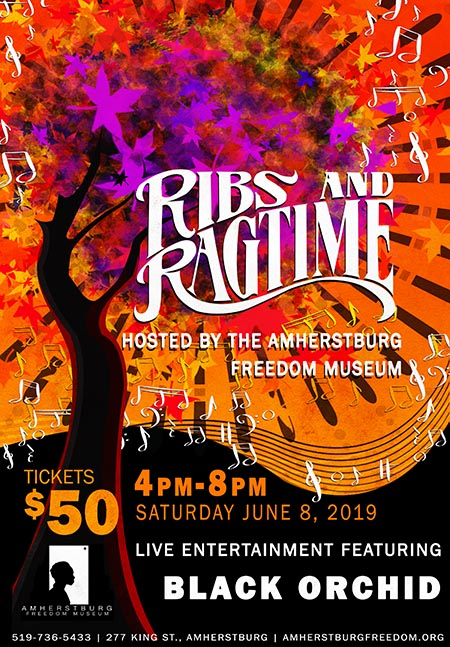 Ribs & Ragtime at the Amherstburg Freedom Museum Poster