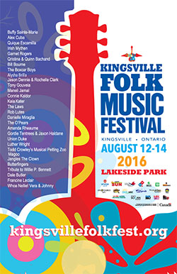 Kingsville Folk Music Festival 2016