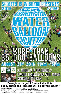 Spotted in Windsor Water Balloon Fight 2016