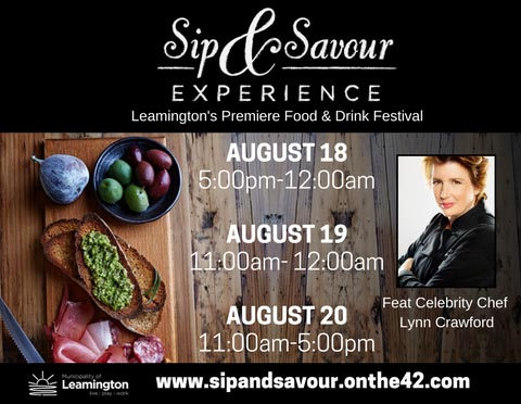 Leamington Sip & Savour Experience Culinary Festival Poster