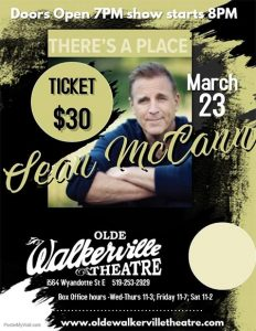 Sean McCann There's A Place Tour at the Olde Walkerville Theatre
