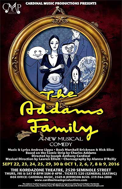 The Adams Family Musical Comedy Poster