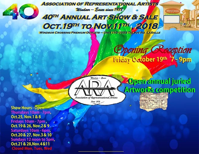 Windsor Essex ARA 40th Annual Art Exhibit & Sale