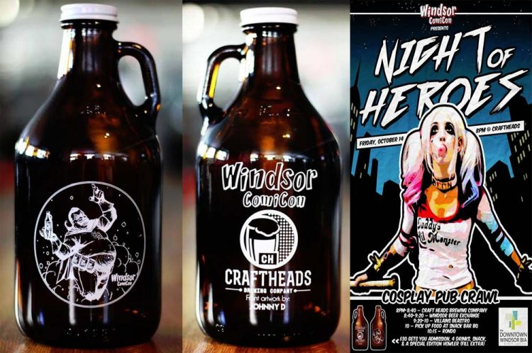 Windsor Comicon Collaborates With Craft Heads Brewing To Bring Howler Growler To Night Of Heroes Pub Crawl