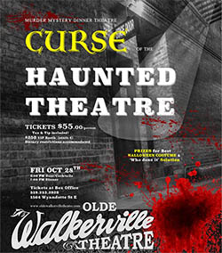 Curse of The Haunted Theatre Murder Mystery Dinner