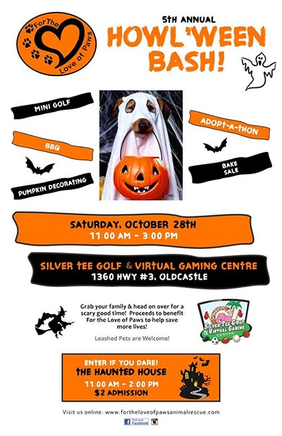 For The Love of Paws Howl'Ween Bash Poster