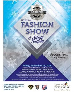 Cops Care For Kids Fashion Show and Silent Auction Poster