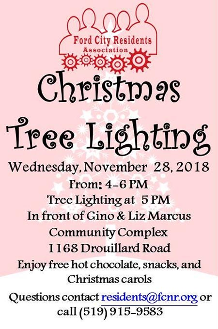 Ford City Tree Lighting and Hot Chocolate Social Poster