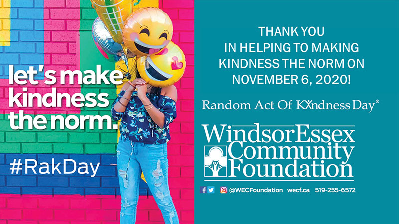 Windsor Essex Random Acts of Kindness Day Poster