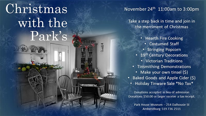 Victorian Christmas at The Park House Museum | Christmas With The Parks Poster