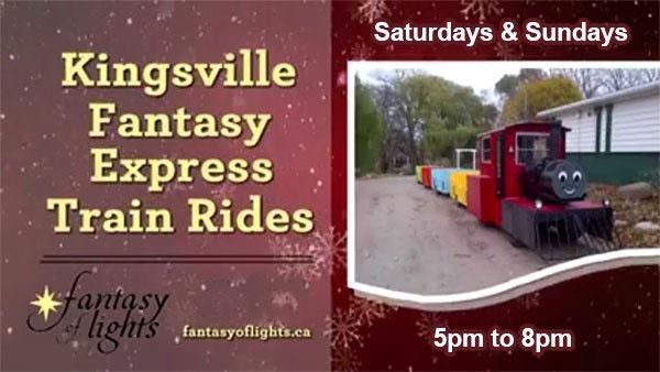 Kingsville Fantasy of Lights Fantasy Express Train Rides