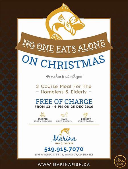 Christmas Restaurant Poster.Marina Fish Chicken Restaurant Charity Christmas Dinner
