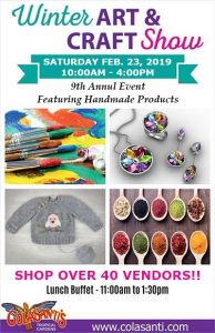 Colasanti's Annual Winter Art And Craft Show Poster
