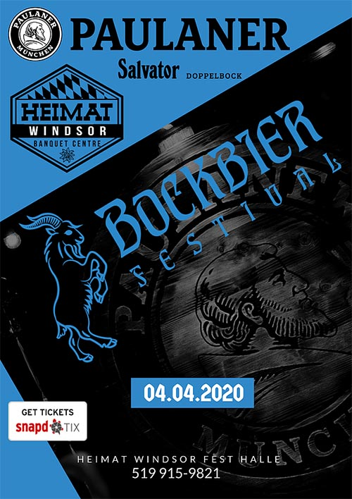 Bockbier Festival Poster : German Beer Festival at Heimat Windsor
