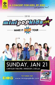 Mini Pop Kids Live at The Chrysler Theatre in Windsor