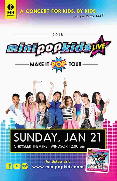 Mini Pop Kids Live at The Chrysler Theatre in Windsor